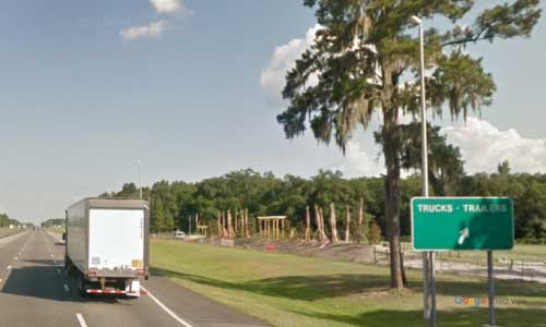 fl i75 truck weigh station southbound mile marker 449