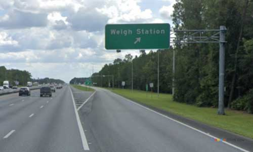 fl i95 truck weigh station southbound mile marker 376