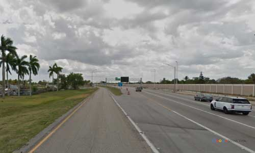 fl sr91 florida turnpike dade county snapper creek service plaza southbound mile marker 19